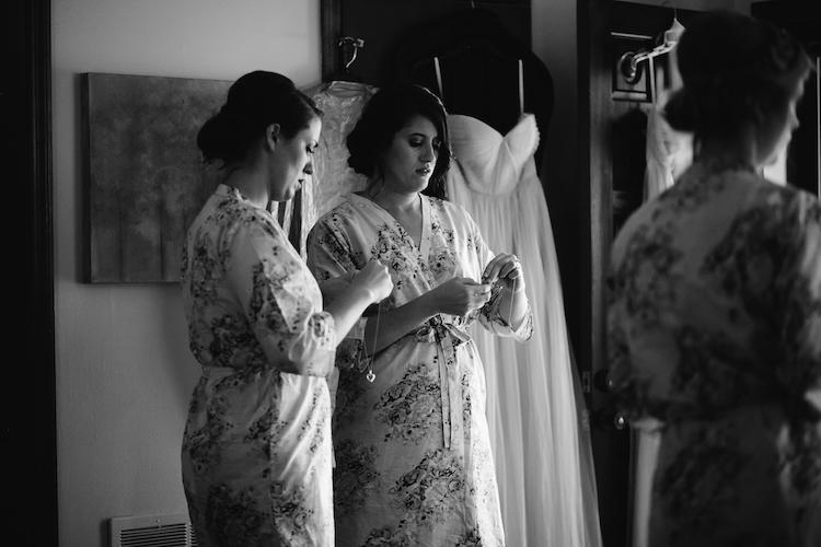 bridesmaid floral robe