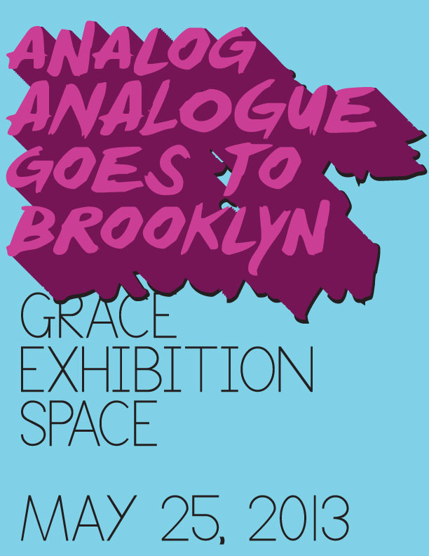 We'll be doing a four hour show at Grace Exhibition Space, 3-7pm on Saturday, May 25.