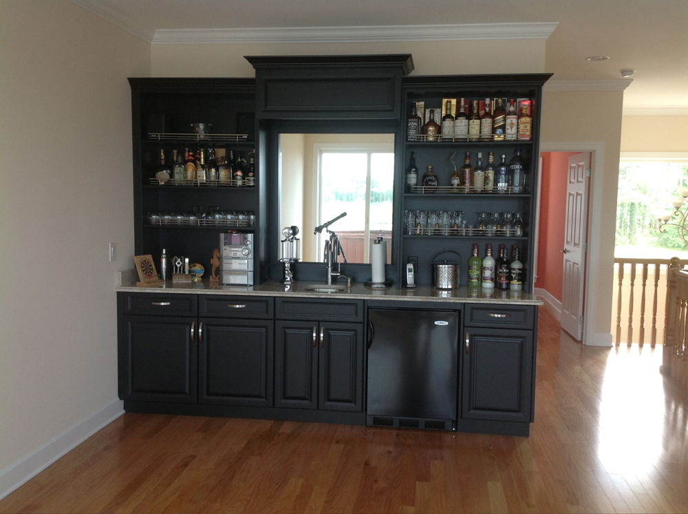Black Game Room Bar