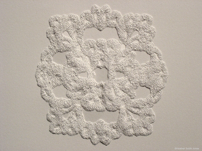 Reflecting series: patterning the moments, ornament , pinholes on grey paper, 2006