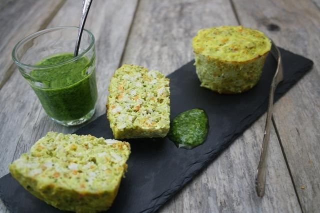 Muffins med kylling og grønt