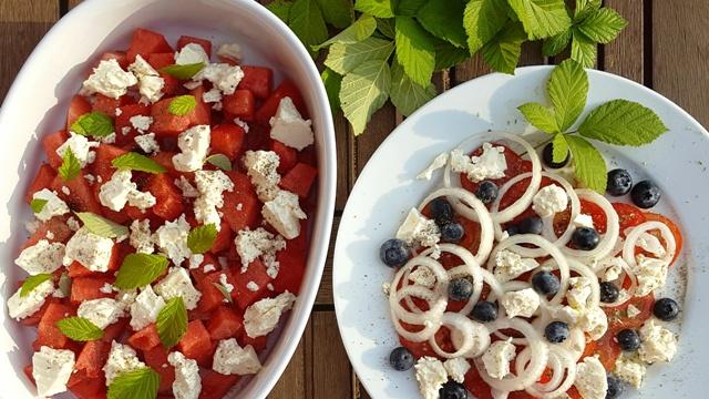 Salater fra sommerlandet