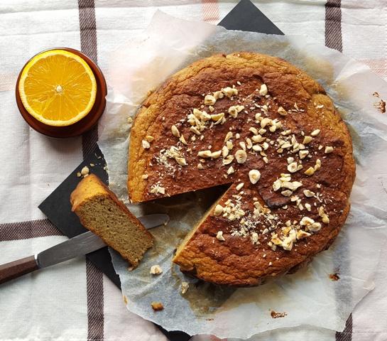 appelsin-nøddekage