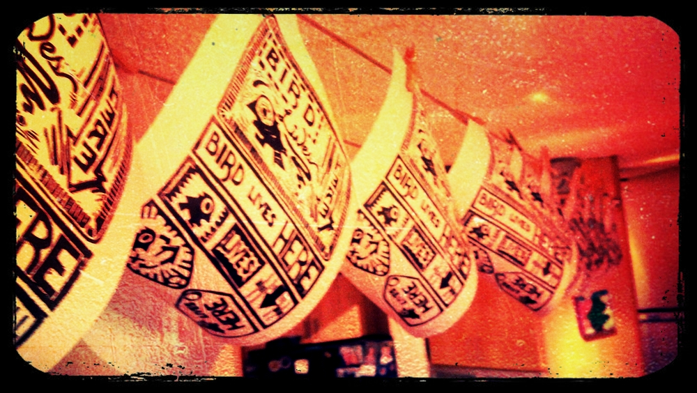 block prints hung out to dry