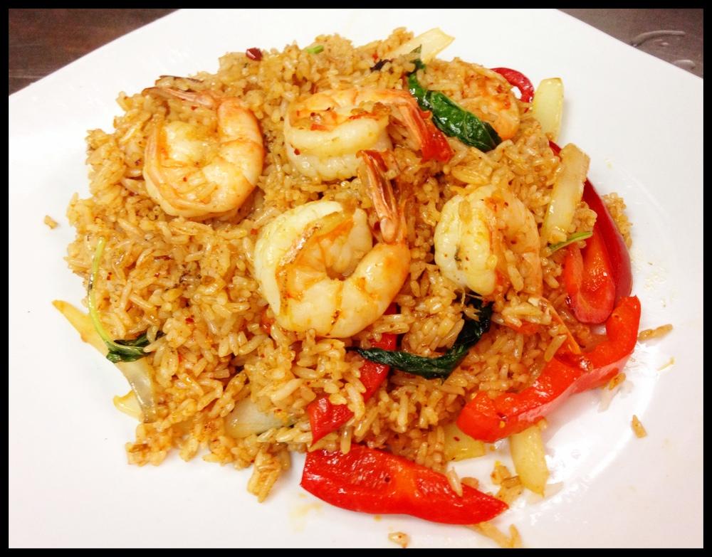 Basil Fried Rice Shrimp