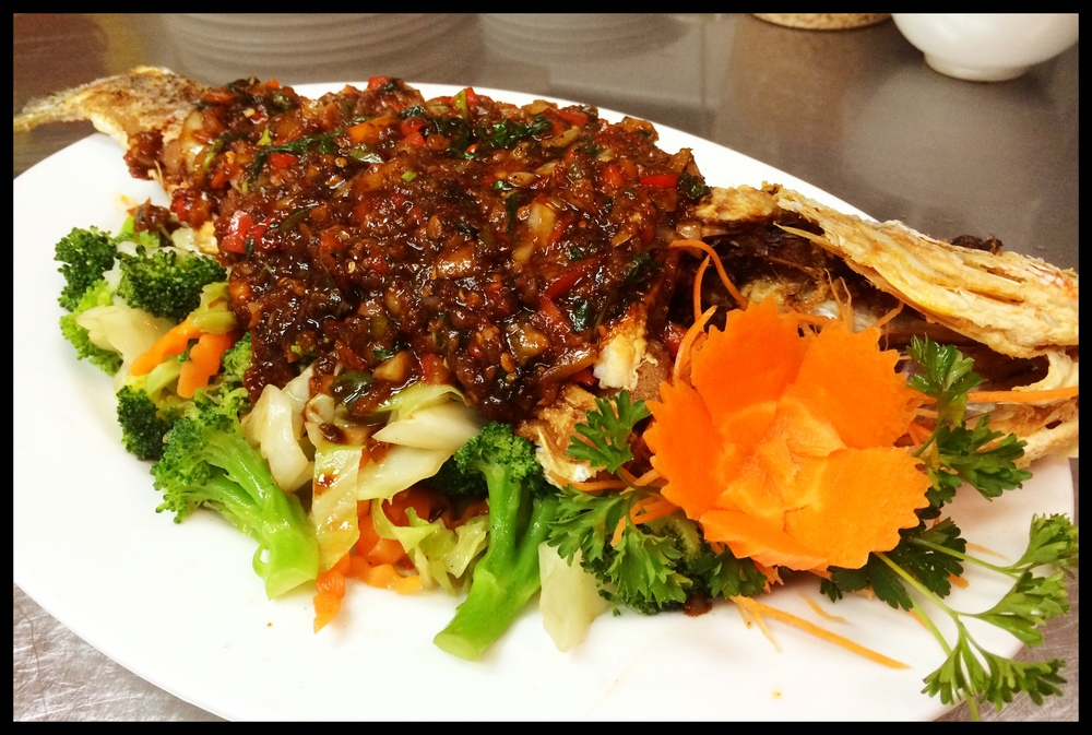 Spicy Basil Whole Red Snapper