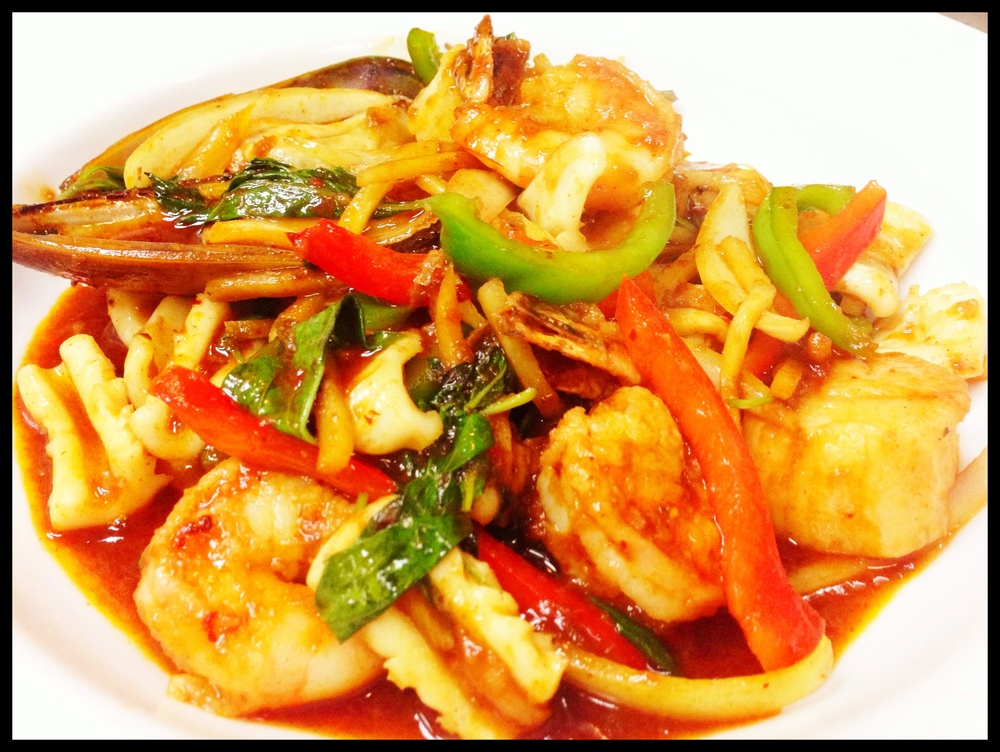 Spicy Basil Seafood