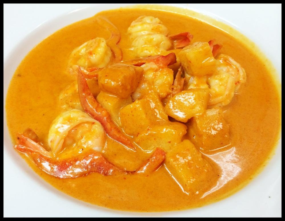 Pineapple Curry Shrimp