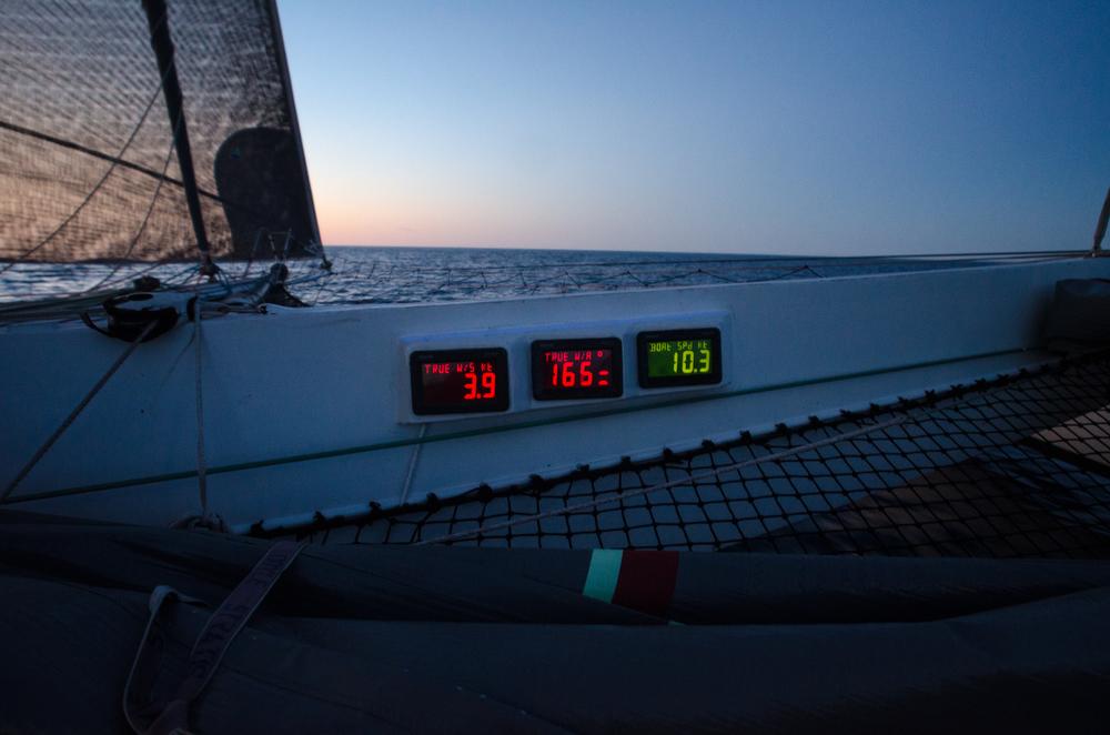 Crusing at 10.3 knots = 11.8 mph