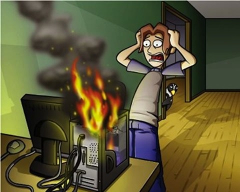 What would you do if your computer fan died? CPUs can hit over 400 degrees with no fan in the first 8 seconds. Fire ignites at right around 900degrees.  Ever wonder why your office is so hot when everywhere else is nice and cool? It's that computer in the corner, generating heat.