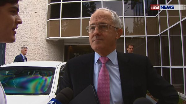 Mackenzie Price interviewing Australian Prime Minister Malcolm Turnbull.