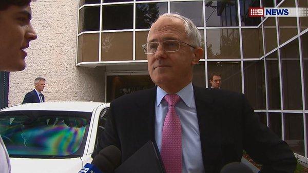 Mackenzie Price interviewing Australian Prime Minister Malcolm Turnbull.
