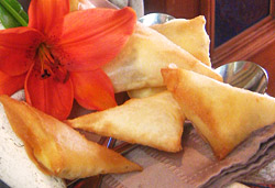 Gorgonzola Samoosas Photo : Jackie Cameron