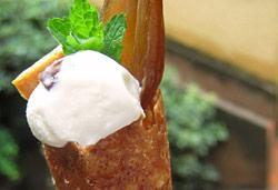 Rum and Raisin Ice Cream in Sugar Cone Photo : Jackie Cameron