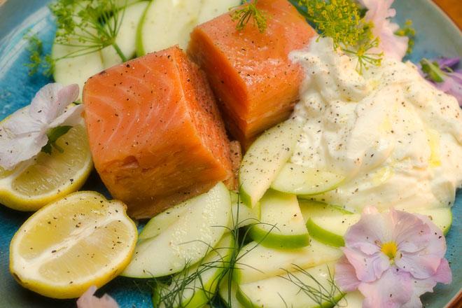 Smoked Salmon Salad Photo : Karen E Photography