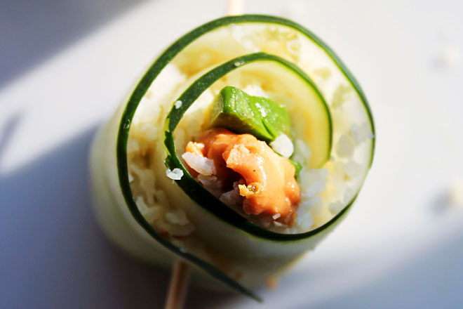 Vegetable Cucumber Roll Photo : Jackie Cameron
