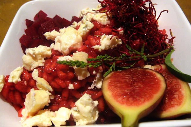 Beetroot Risotto Photo : Jackie Cameron