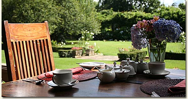 """You're most welcome to join us for tea in the beautiful surrounds of our own garden..."""