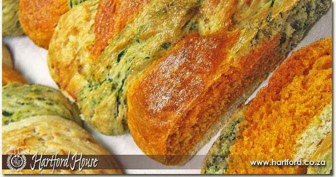 vegetable plait bread
