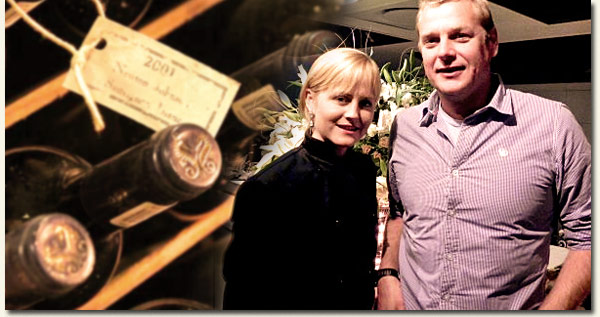 Jackie Cameron and Bevan Newton Johnson / Newton Johnson Wines (p)