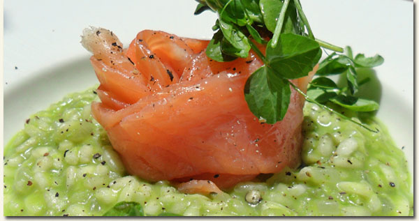 Garden Pea Risotto with Smoked Salmon / Jackie Cameron (p)