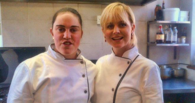 Rebecca Bourhill and Jackie Cameron