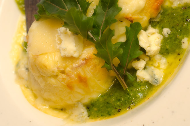 Twice Baked Gorgonzola Souffle