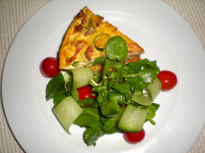 Bacon and Courgette Savoury Tart Photo : Jackie Cameron