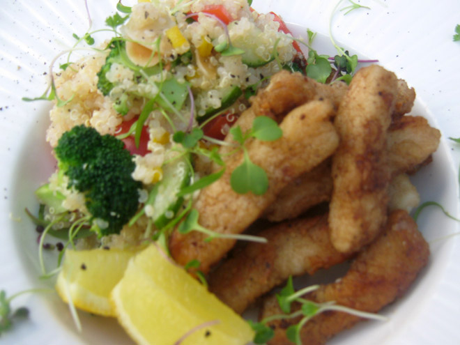 Calamari and Quinoa Salad Photo : Jackie Cameron