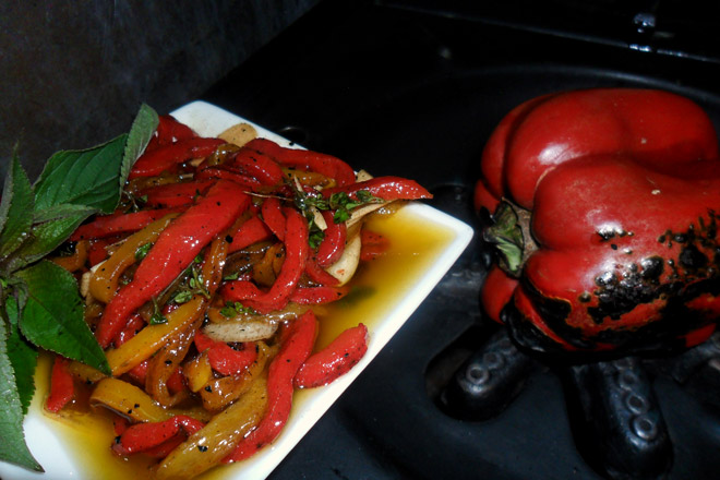 Char-grilled Peppers Photo : Jackie Cameron
