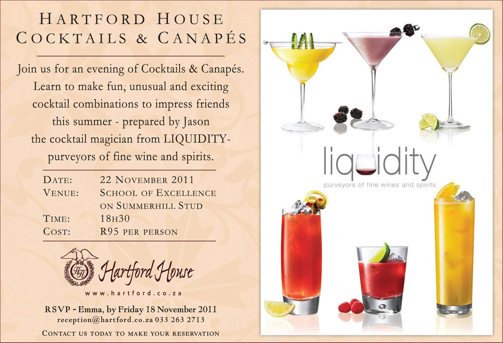 Liquidity Cocktails and Canapes at Hartford House