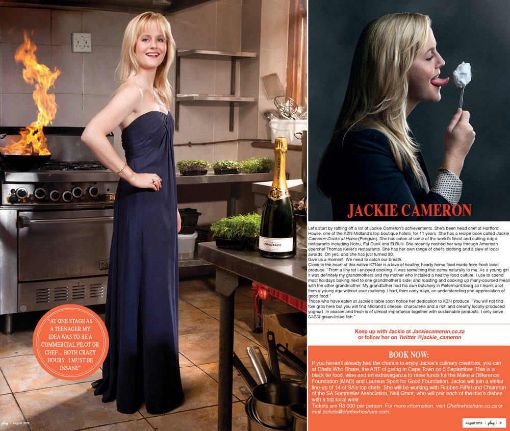 Play Magazine August 2013 - Jackie Cameron