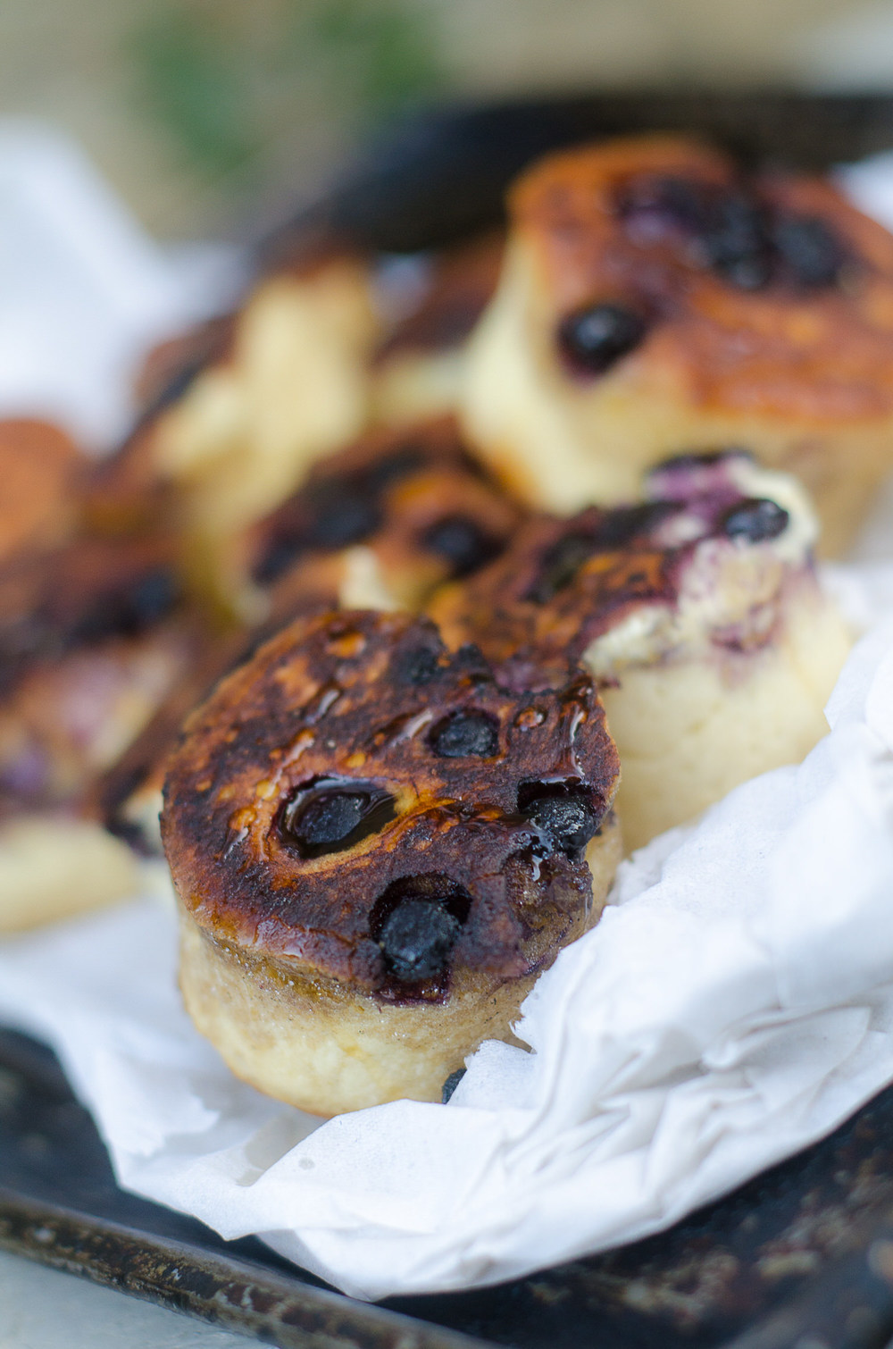 Blueberry Crumpets