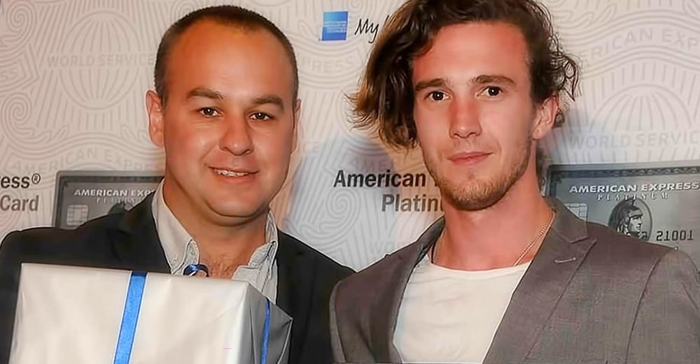 Hartford House General Manager Duncan Bruce with Head Chef Travis Finch at the 2015 American Express Platinum Fine Dining Awards in Cape Town / American Express (p)