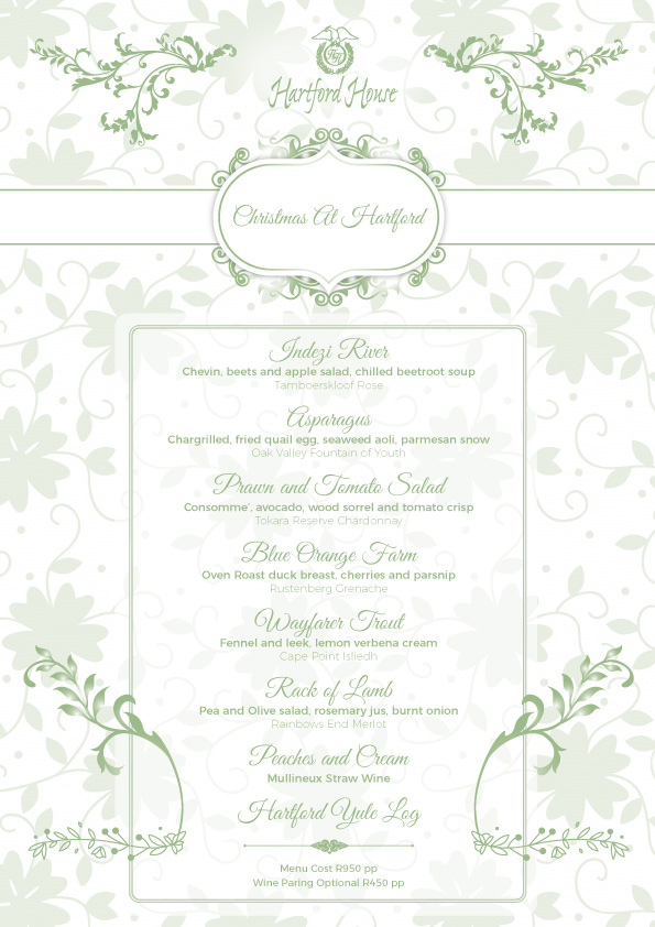 Hartford House Christmas Menu