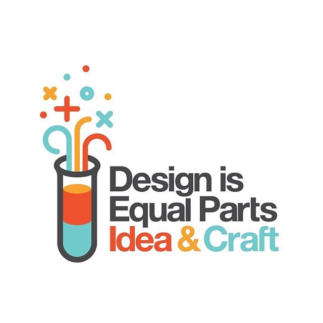 Quote of the day | 'Design is Equal Parts Ideas & Crafts' Via @dribbble  Design by Allan Peters