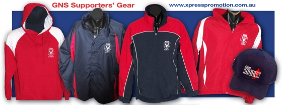 GNS Supporter gear is available from http://www.xpresspromotion.net.au/