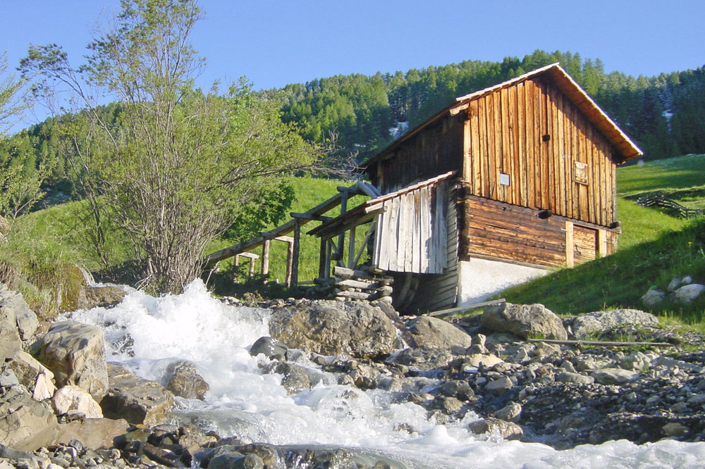"A mill in the ""Val di Morins"" in Lungiarü / Campill / Longiarù."