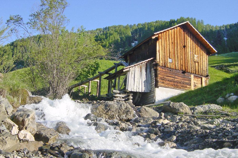 """A mill in the """"Val di Morins"""" in Lungiarü / Campill / Longiarù."""