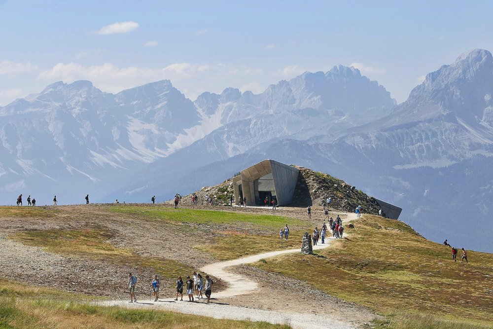 The Messner Mountain Museum at the top of Plan de Corones  .
