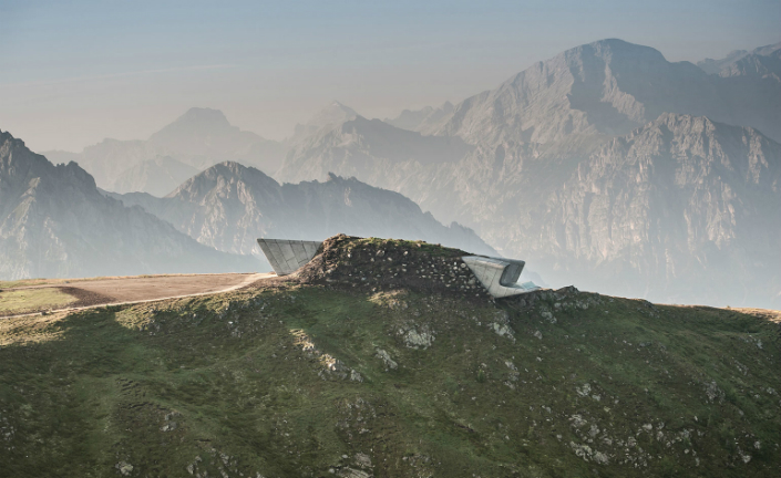 The Messner Mountain Museum by Zaha Hadid Architects in the Dolomite Alps. Photography: Wisthaler