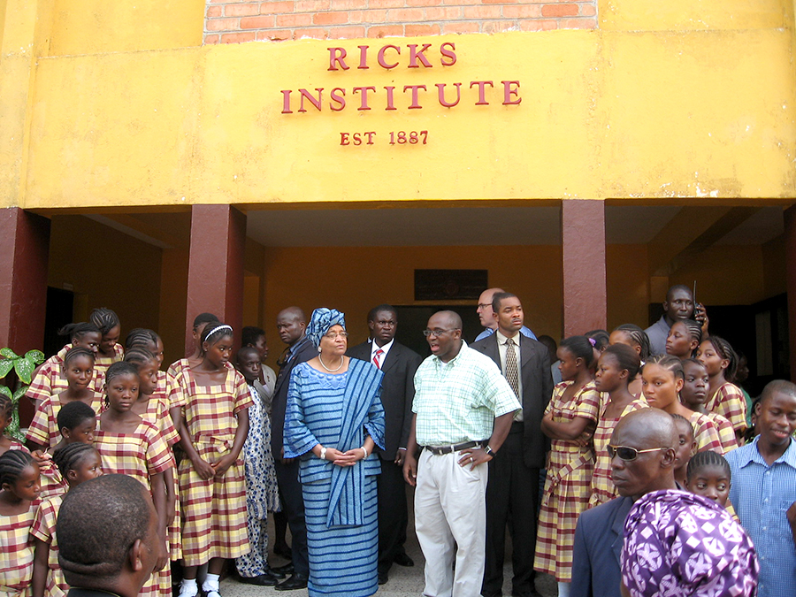 Rick's Institute, a Baptist elementary and secondary school in Monrovia. (Photo/James Blay)