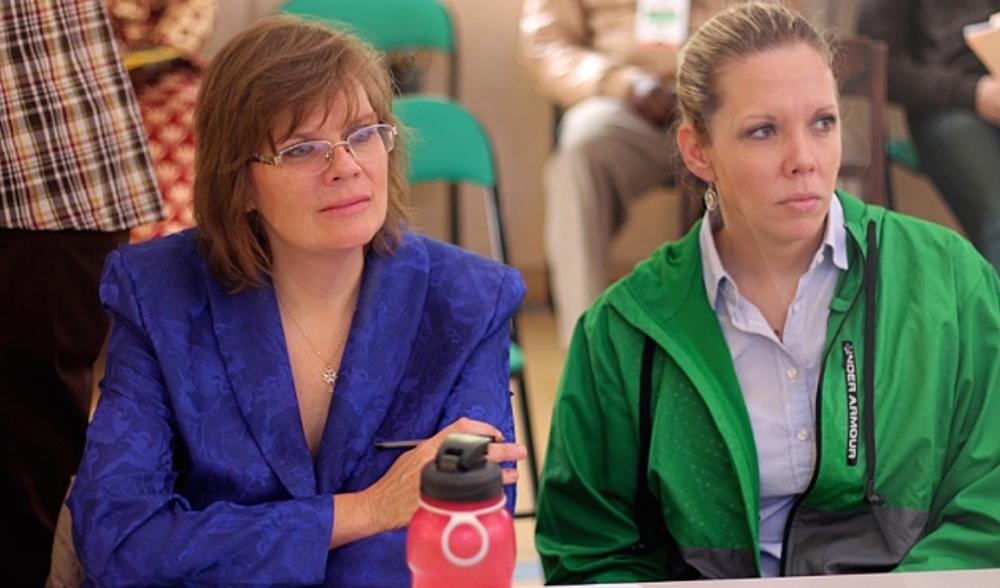 Karen Thomas Smith (left) & Kristin Belcher (right)attend EEAM Synod in Rabat, Morocco