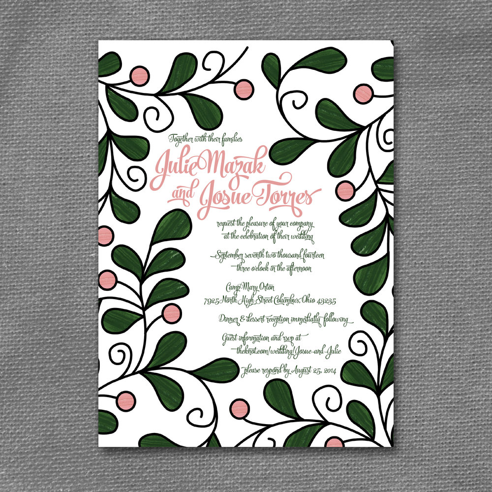 modern talavera wedding invitation