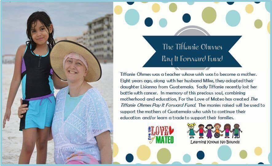 Click Below to donate in Honor of Tiffanie Ohmes and her passion for moms.