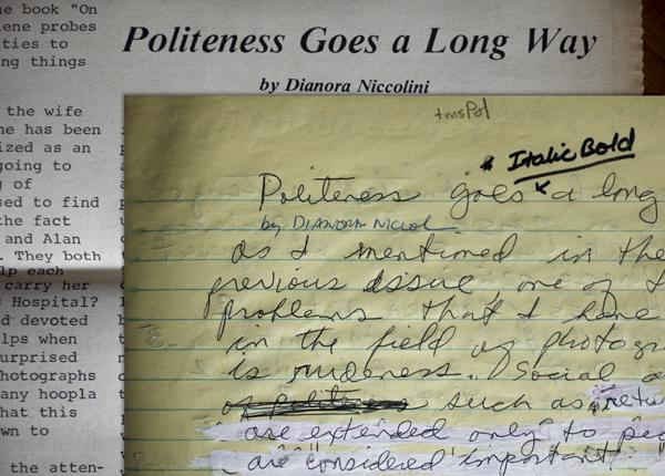 Documents of Professional Women Photographers