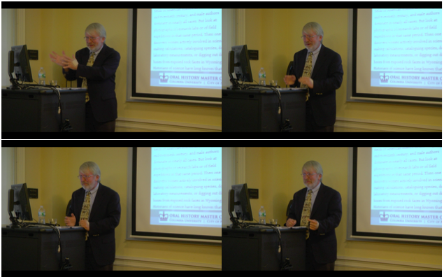Ron Doel speaking at Columbia on March 26, 2015