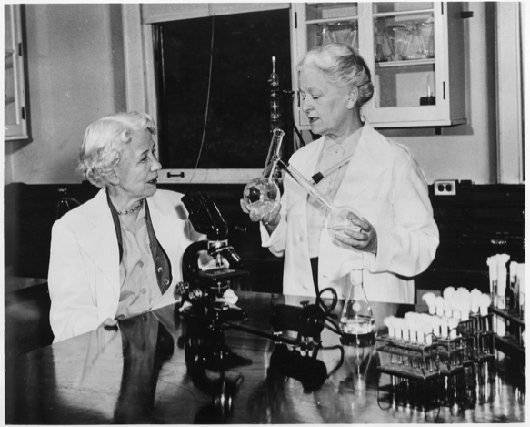 Women working in a lab: Hazen, Elizabeth Lee 1888-Brown, Rachel 1898-1980, New York (State) Dept. of HealthAcc. 90-105 - Science Service, Records, 1920s-1970s, Smithsonian Institution Archives