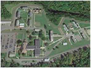 Aerial view of Hudson Correctional Facility, formerly New York State Training School for Girls (source)
