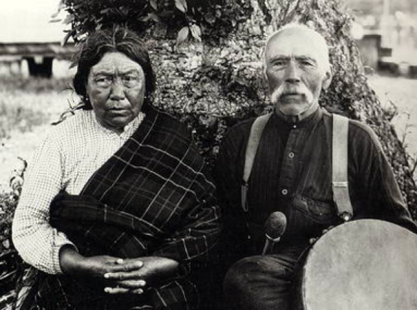 From the American Museum of Natural History, here is a photo of Tsukwani and George Hunt, two members of the clan who were in communication with anthropologist Franz Boas during his ethnographic study of the Kwakwaka'wakw. Courtesy of:   http://www.firstnations.eu/fisheries/kwakwakawakw-kwakiutl.htm .